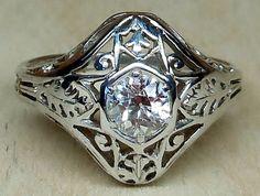 Antique Vintage .50ct Old European Cut Diamond por DiamondAddiction