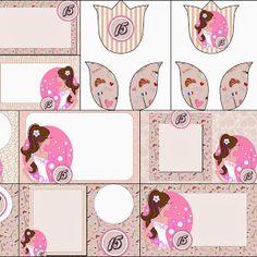 Bello Kit Provenzal en Rosa, Gris y Blanco para Imprimir Gratis. | Oh My 15 Años!