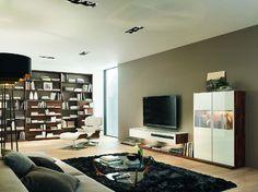 Cubus nábytková sestava bílá / living room furniture Wall Storage Systems, Storage Shelves, Shelving, Team 7, Tv Unit, Living Room Designs, Living Rooms, Table, Furniture