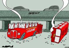 Caricatures, Uk Politics, Double Decker Bus, Car Crash, Political Cartoons, Shit Happens, Day, Funny, Madness