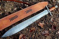 Damascus Knife Custom Handmade - 27.00 Inches MICARTA HANDLE GLADIUS SWORD