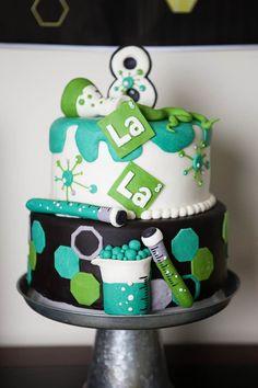 Cake from a Science Lab Birthday Party via Kara's Party Ideas KarasPartyIdeas.com (59)