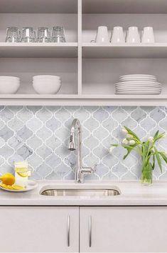 Pictures of tile from AKDO Mosaic & Glass Tile we carry. AKDO has a wide range of porcelain tile, glass, stone, mosaic, and semi-precious stone tiling. Kitchen Splashback Tiles, Splashback Ideas, Tiles For Kitchen, Hamptons Kitchen, Kitchen Furniture, Outdoor Furniture, New Kitchen, Kitchen Reno, Home Kitchens