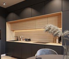 Minimal Kitchen Design, Kitchen Room Design, Kitchen Cabinet Design, Interior Design Kitchen, Kitchen Decor, Condo Interior, Kitchen Cabinet Sizes, Modern Kitchen Cabinets, Modern Outdoor Kitchen