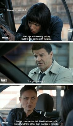 You know you& a Bonehead if you love the atrocious theme song. Spoilers for people who haven& obsessively watched every episode of Bones. Best Tv Shows, Best Shows Ever, Movies And Tv Shows, Favorite Tv Shows, Bones Tv Series, Booth And Bones, Bones Show, Emily Deschanel, Rookie Blue