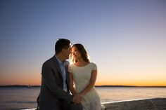 Sunset engagement session in West Seattle - by Seattle based wedding photographer Nick Leung