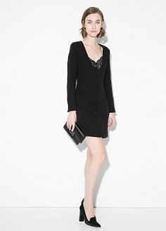 Kleid mit Spitzenapplikation