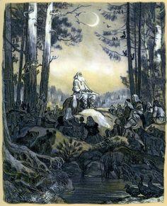 "Painter Nikolai Kochergin. Karelian-Finnish epic poetr ""Kalevala"""