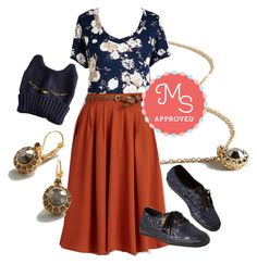 """Just Because Tee in Navy"" by modcloth ❤ liked on Polyvore featuring Keds"