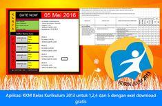 Aplikasi KKM Kelas Kurikulum 2013 Untuk 1245 SD dengan Exel Download Gratis