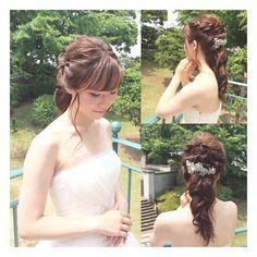 どこから見ても可愛く♡の鉄則! #ヘアスタイル #ヘアアレンジ #ブライダルヘア #ウェディングヘアメイク #wedding #Bridal #結婚式 #横浜 #ロケフォト #プレ花嫁 #ダウン - katsuko_hairmakekimono