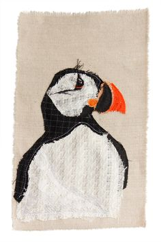 Puffin | Textile Art | Tracey Cameron Creative