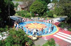 Community street painting project