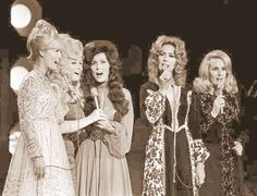 Country Music's All-Time Greatest Female Singers ~> Lynn Anderson, Dolly Parton, Loretta Lynn, Dottie West and Tammy Wynette.