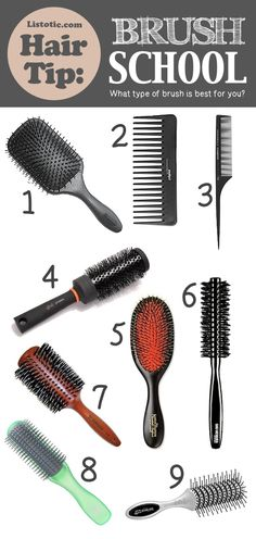 Brush Basic: What type of brush is better for you? PLUS 20 of the BEST hair tips you'll ever read!