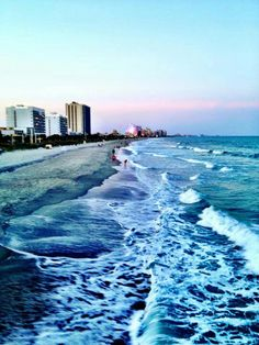 Gorgeous shot of the waves on Myrtle Beach
