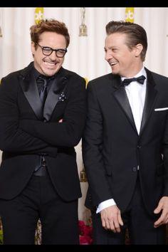 Robert Downey jr and Jeremy renner