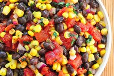 Skinny Points Recipes  » 15 Minute Black Bean and Corn Salsa – 1 SmartPoint