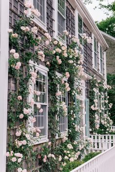 pink climbing roses garden aesthetic A Week On Nantucket, Part 2 - Gal Meets Glam Beautiful Homes, Beautiful Places, Rose House, Ivy House, Climbing Roses, Climbing Rose Trellis, New Dawn Climbing Rose, Garden Cottage, Garden Care