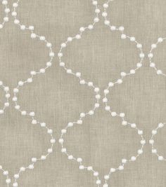 Upholstery Fabric- HGTV Home Pearl Drop Emb Flax