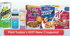 Don't miss today's coupons for Kellogg's cereal, Aveeno suncare, Bounty paper towels and more! Many of these are $0.50 coupons - perfect for doubling!