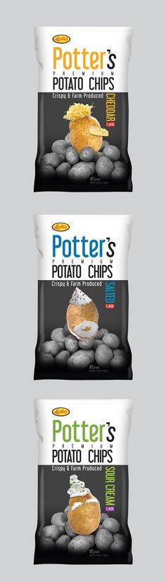 Potato chips packaging design concept that never made it to the shelves. a 2011 concept that I like until now. #potatoChips #packaging #design #packagingDesign #chips #kreativebones