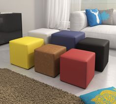 10 Classic Leather Ottomans - Add Versatile For Your Room Space Luxury Living Room Decor, Space Saving Furniture, Ottoman In Living Room, Center Table Living Room, Wood Chair Design, Kid Room Decor, Diy Bed Frame, Wardrobe Door Designs, Furniture