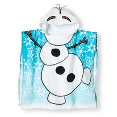 Disney Frozen Olaf Cotton Hooded Poncho Beach/Bath/Pool Towel for sale online Cute Frozen, Frozen Party, Olaf Halloween, Frozen Snowman, Kids Hooded Towels, Disney Frozen Olaf, Baby Bath Time, Baby Towel, Kids Bath