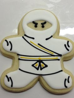 ninja cookies--using gingerbread cutter Tonights project