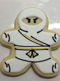 ninja cookies--using gingerbread cutter Tonights project