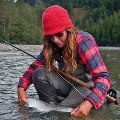 Patagonia Fjord Flannel  in Tahquitz: Tomato  - Quintessentially versatile and seriously soft, you'll want this 100% organic cotton flannel shirt with you on all occasions. Available in a fly box's worth of beautiful plaids and blanket stripes - April Vokey Sept. 2013