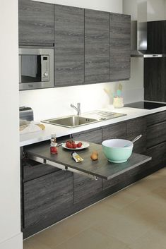 Ambrosial Kitchen design cabinet layout,Small kitchen cabinets walmart and Kitchen remodel design tool tips. Small Modern Kitchens, Modern Kitchen Design, Interior Design Kitchen, Modern Interior Design, Modern Spaces, Contemporary Interior, Ideas For Small Kitchens, Small Home Design, Interior Ideas