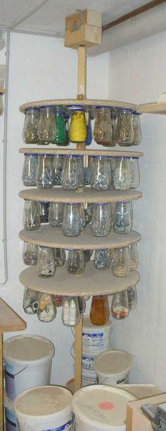Garage Shelves - Plastic Vs Metal and Small Metal Overhead Storage Tips. Garage Shelves – Plastic Vs Metal and Small Metal Overhead Storage Tips. Garage Shed, Garage Tools, Diy Garage, Garage Storage Shelves, Shed Storage, Tool Storage, Storage Hacks, Small Storage, Workshop Storage
