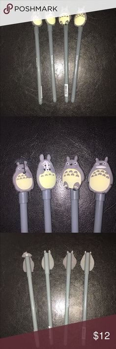 New Totoro Gel Pens You get 4 New Totoro Gel Pens Very Cute All my items come from a smoke and pet free home Thanks for looking and please feel free to contact me with any questions you have Other