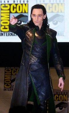 Tom Hiddleston as Loki at Sandiego Comic Con 2013 - He is perfection. <3