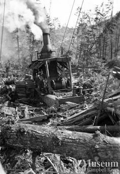 Steam donkey engine (Mel Parker Collection - CR Museum)