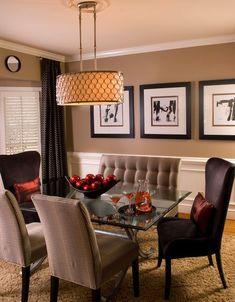Speiseraum Mehrfarbig Grau Dunkel Orange Deko Naturblumen Regale Bodenbelag  Stühle Weiß Bild | Home Decor | Pinterest | Dunkel, Wandgestaltung Und ...