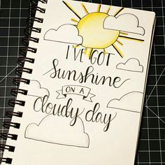 I've got sunshine.n its u perfectly u prakash bullet journal ideas drawing quotes Journal Quotes, Journal Pages, Journals, Journal Ideas, Bible Journal, Calligraphy Doodles, Calligraphy Drawing, Calligraphy Alphabet, Islamic Calligraphy