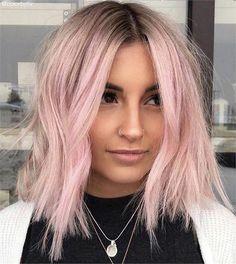 10 Beautiful Pink Pastel Hair Colors & Hairstyles for 2019 Ombre Hair pastel pink hair ombre Pastel Pink Hair, Hair Color Pink, Cool Hair Color, Short Pastel Hair, Rose Pink Hair, Short Colorful Hair, Baby Pink Hair, Pink Blonde Hair, Hair Colours