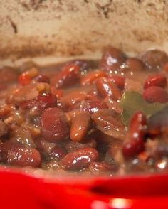 New Orleans-Style Red Beans {sub liquid smoke for ham hock, vegan sausage optional}