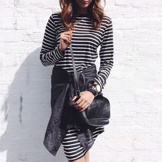 stripes in a stylish jumpsuit