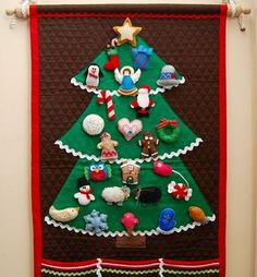 Christmas Advent Calendar ~ i had one of these as a child and intend to make them for grandchildren someday!