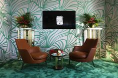 FLEXFORM GUSCIO ARMCHAIRS, designed by Antonio Citterio furnish the exclusive #ChopardRooftop at the Hotel Martinez during the Festival de Cannes 2015.