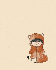 Original Fox Illustration Print - Actually thinking this would make a great… Illustration Mignonne, Art Et Illustration, Art Fox, Art Mignon, Anime Love, Cute Drawings, Cute Art, Illustrators, Creations