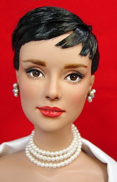 Audrey Hepburn Repaint by Just Creations by Loves Dolls, via Flickr