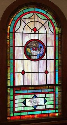 Stained Glass Windows at Gilmore Chapel AME Zion Church in Concord, NC