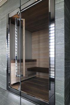 Spa at Armani Hotel Milan - Spa/Sauna Armani Hotel, Saunas, Hotel Milano, Milan Hotel, Spa Design, House Design, Restaurant Hotel, Dry Sauna, Hotel Door