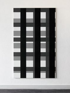Arjan Janssen black & white color block rug
