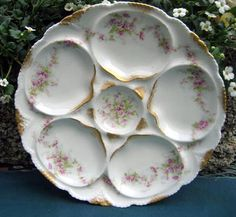Antique Haviland Limoges Oyster Plate by 4HollyLaneAntiques, $210.00