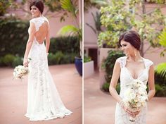 Backless wedding gown low back lace bride bridal perfect open back statement sexy wedding dress